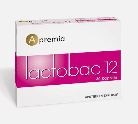 Verpackung Apremia Lactobac Kapseln