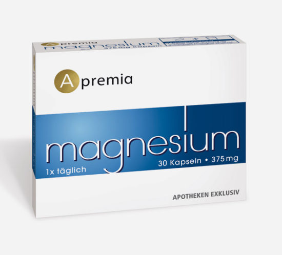 Verpackung Apremia Magnesium Kapseln