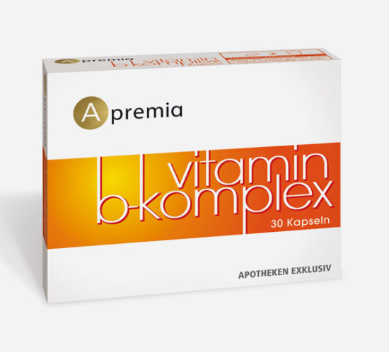 Verpackung Apremia Vitamin B Komplex Kapseln