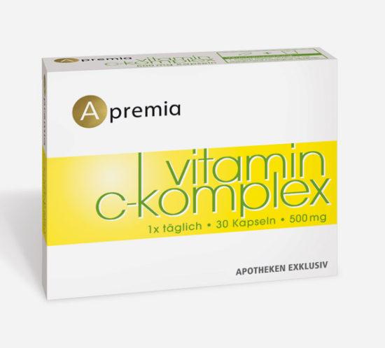 Verpackung Apremia Vitamin C Komplex Kapseln