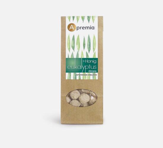Verpackung Apremia Honig Eukalyptus Drops